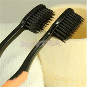 New 4PCS/lot Bamboo Charcoal  Toothbrush Double Ultra Soft Toothbrush For Oral Care