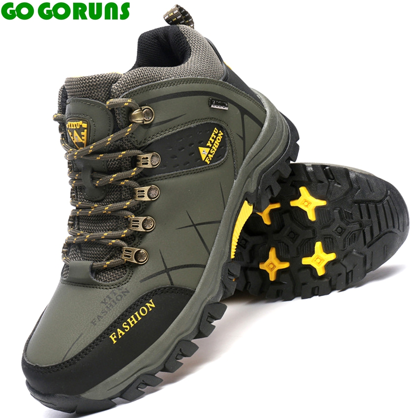 outdoor sport men hiking shoes high top climbing cross country hiking shoes men hunting trekking shoes sneakers ankle boots 319g outdoor high top suede trekking boots lace up leisure sport fishing hiking shoes men waterproof breathable climbing sneakers