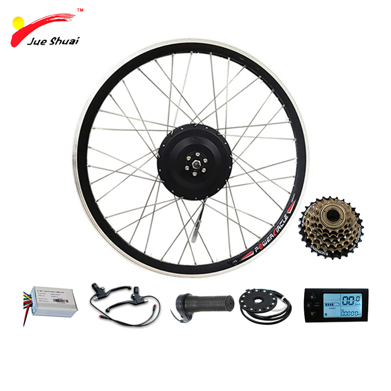 E BIKE Conversion Kit 36V 500W with Brushless Hub Motor Set For Electric Bike Conversion Kit with 500W Engine Rear Wheel Motor
