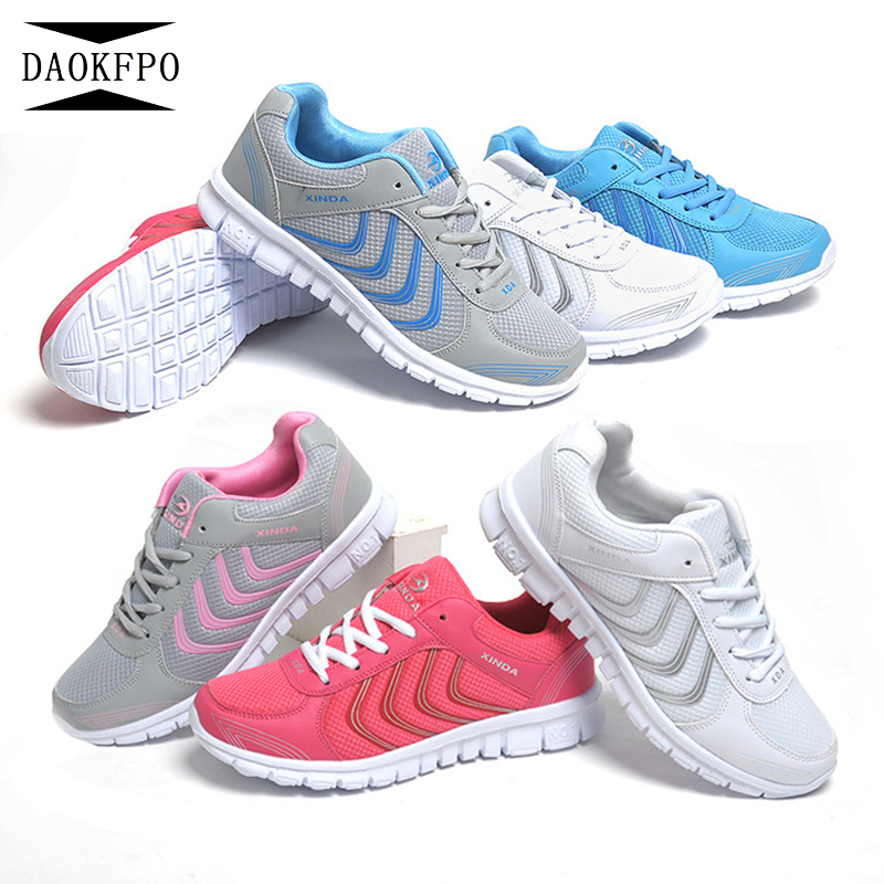 DAOKFPO Women shoes 2018 new fashion tenis feminino light breathable mesh shoes woman casual shoes women sneakers fast delivery