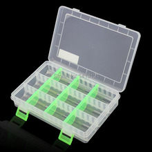 free shipping PP storage box grid Category Box Sealed bin Home Component case Fishing gear box feed box part jewelry tool box