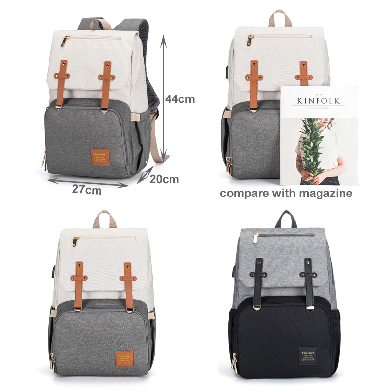 Baby Diaper Bags for Dads Moms Backpack Large Capacity Waterproof Nursing Bags Travel Stroller Bag Luxury Organizer For Twins 6