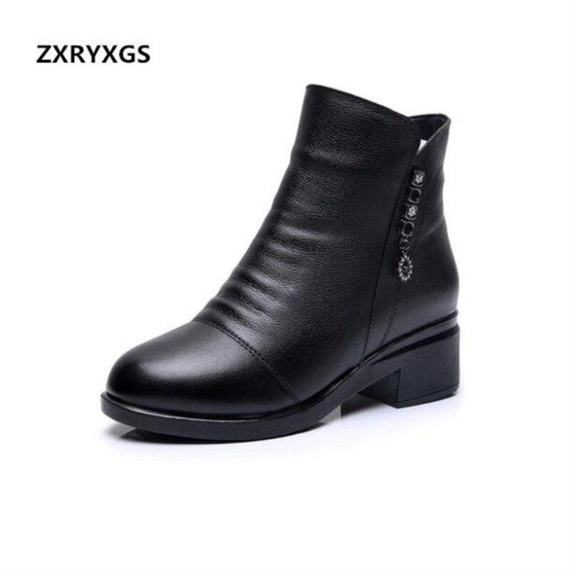 De 2018 Inside Zxryxgs Velvet Más Real Long Short Mujer Tamaño Tacones  Invierno Botines Martin Zapatos Marca Altos Cuero ... 45ed2531ede9