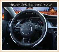 EVERSE MOUNTAIN High Quality Sporty Automobiles Steering Wheel Cover Suitable For All Car Styling Universal 38cm