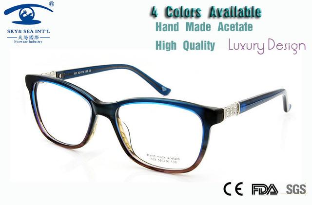 Высокое Качество, Модные óculos feminino Горный Хрусталь Оправы для очков Женщин Оптические Очки Дизайнер Прозрачные Линзы Очки Очки
