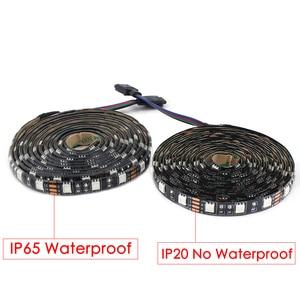 Image 2 - 12 v ledライトストリップrgb 5050黒pcb 1メートル2メートル60led/メートルpcのtv防水柔軟な12 vルームライトストリップリボンテープ装飾ランプ