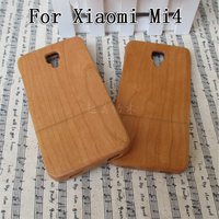 2017 Luxury For Xiaomi Mi4 Case Qimei Natural Bamboo And Wood Shell Back Cover Case For