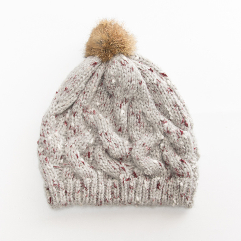 Winter Pompon Elastic Knitted Hat Plain Womens Beanie Warm Winter Pom Cap Ski Caps Gorro Skull knit Cap Bonnet Cotton Hats #2W