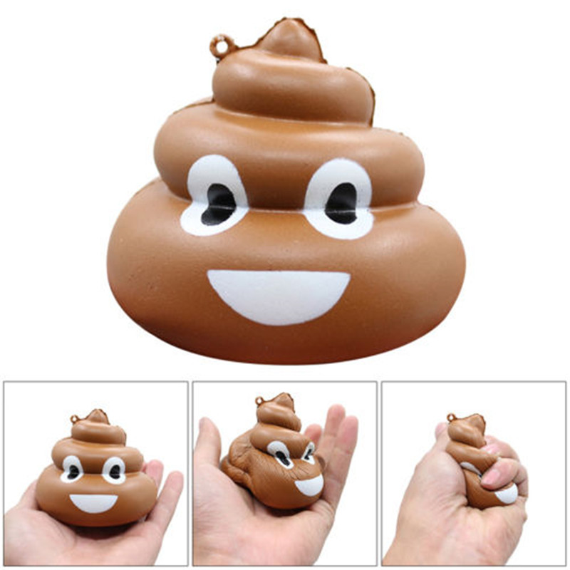 New Squishy Crazy Stool Squeeze Poo Slow Rising Fun Toy Relieve Stress Cure Practical Spoof Gifts
