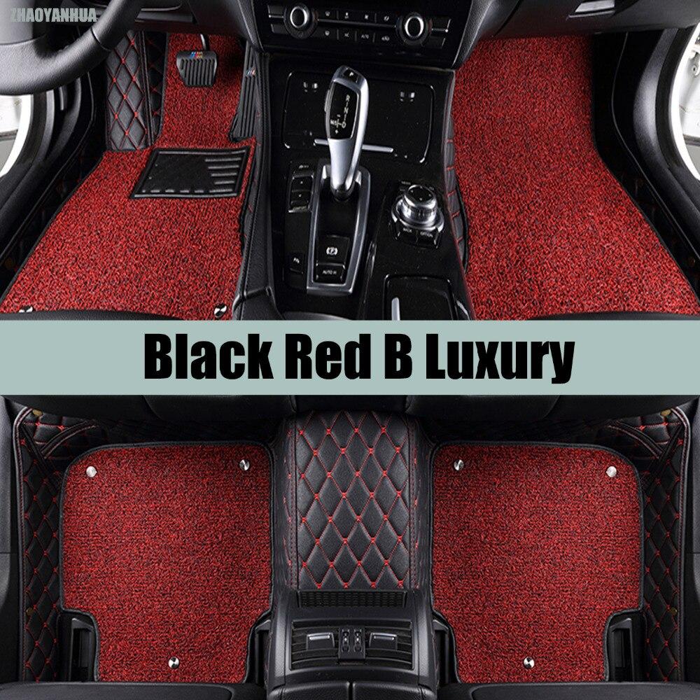 ZHAOYANHUA Car floor mats special for Audi A4 B5 B6 B7 B8 allraod Avant 5D car-styling carpet floor liners (1994-present) custom fit full cover car floor mats for audi a6 c5 c6 c7 a4 b6 b7 b8 allroad avant all weather waterproof car styling liners