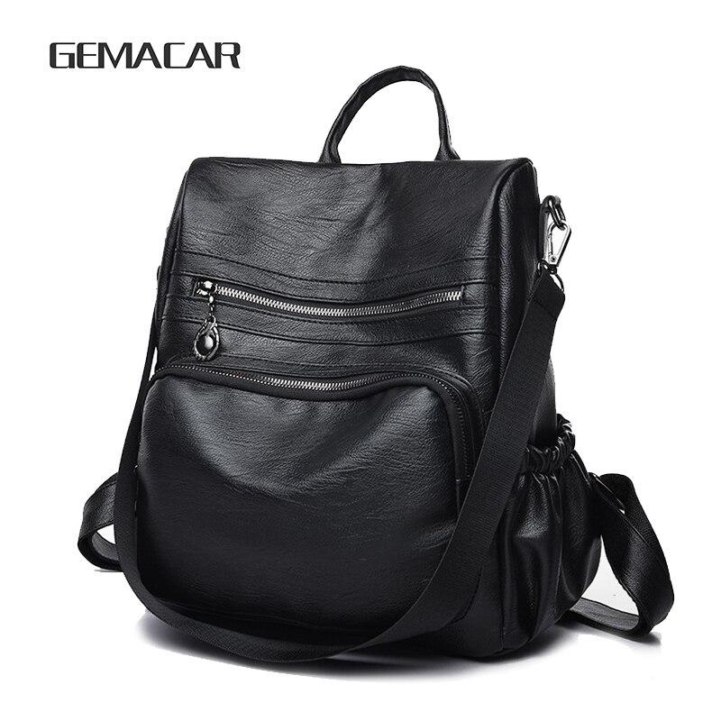 Work Casual Woman Backpack Elegant Simple Ladies Rucksack Classic Design Multifunctional Female  Bag Young Girl School Backpack