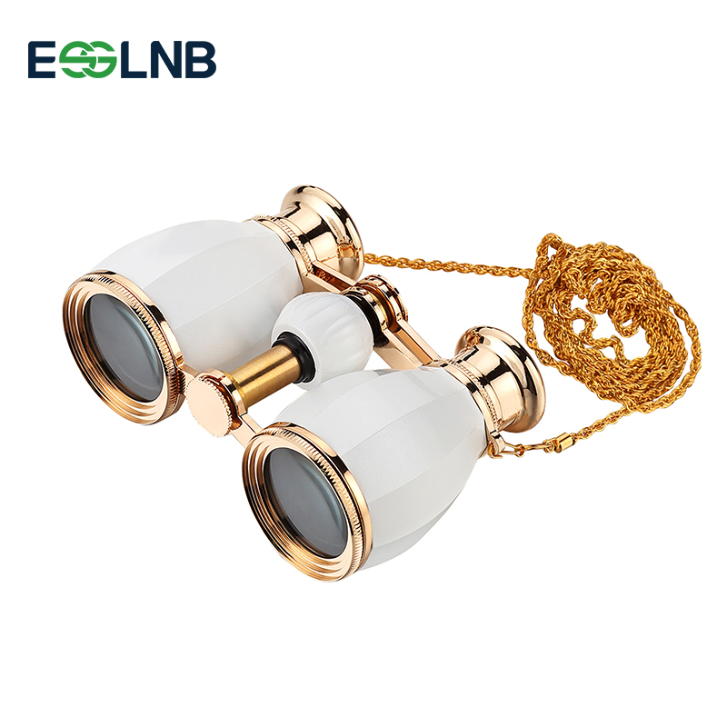 New Style 4X30 Binocular Telescope Opera Glasses Coated Theater Glass Retro Binocular With Chain Telescopio Lady Gifts 5 Colors eyebre tdc 10 x 25mm binocular water resistant telescope
