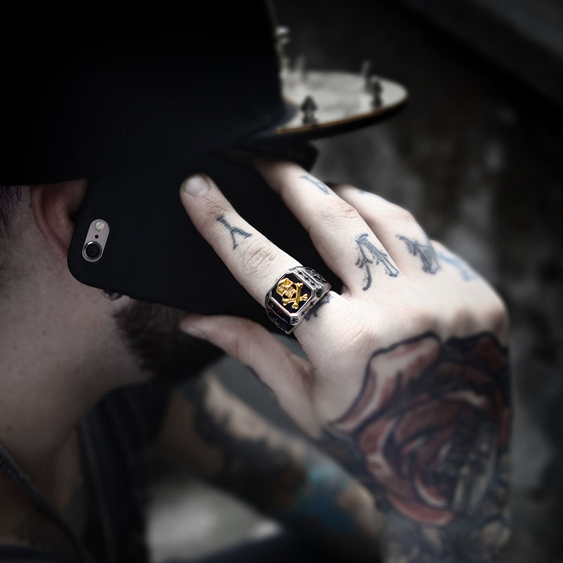Beier 316L Stainless Steel ring biker Ring skull Mans special copper fashion jewelry BR8-331