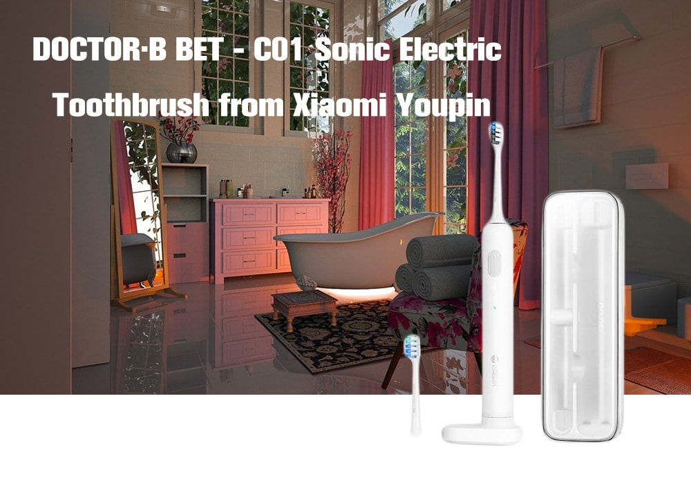 DOCTOR·B BET - C01 Sonic Electric Super Light Toothbrush from Xiaomi Youpin- White