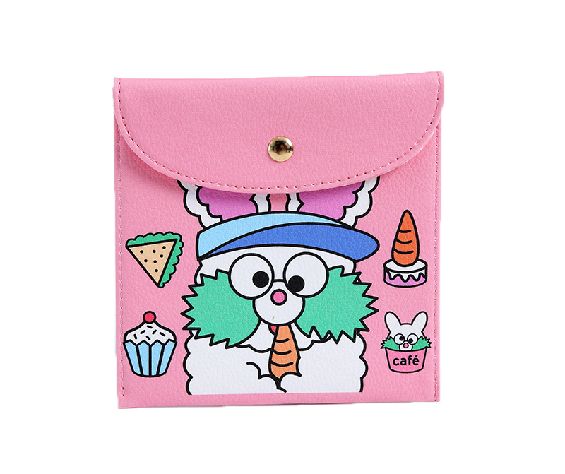 Bentoy Fashion Lady Mini Sanitary Bag Pouch Female Credit Card Business Card Holder Case Leather Cartoon Money Wallet Purse new big brothers money cigarette card case box holder