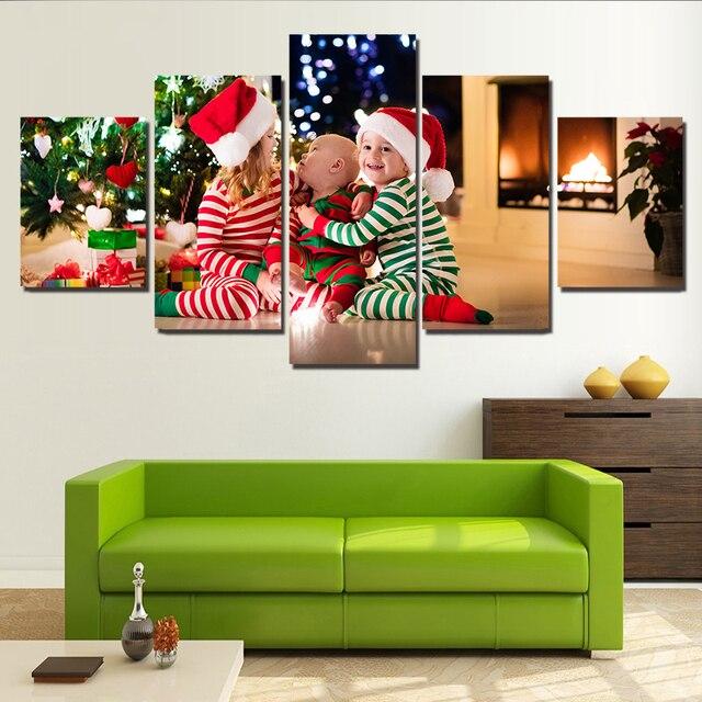 Купить рождественские праздники три ребенка холст настенная художественная картинки цена