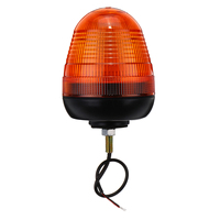 1Pcs 12V/24V Universal Car LED Rotating Flashing Amber Beacon 1 Bolt for Truck Tractor Warning Strobe Light