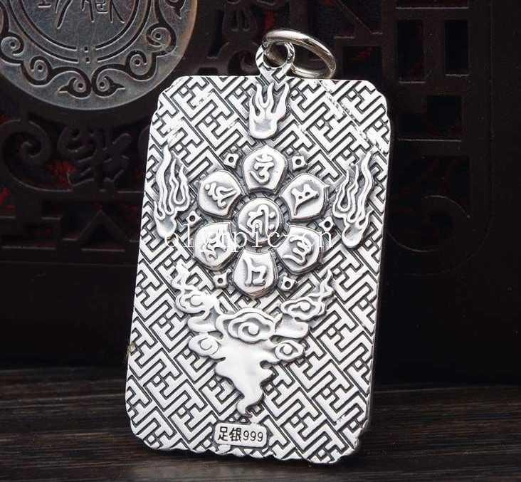 32 г чистое серебро 100% 999 серебро ручной работы резные сокровища кулон с драконом амулет