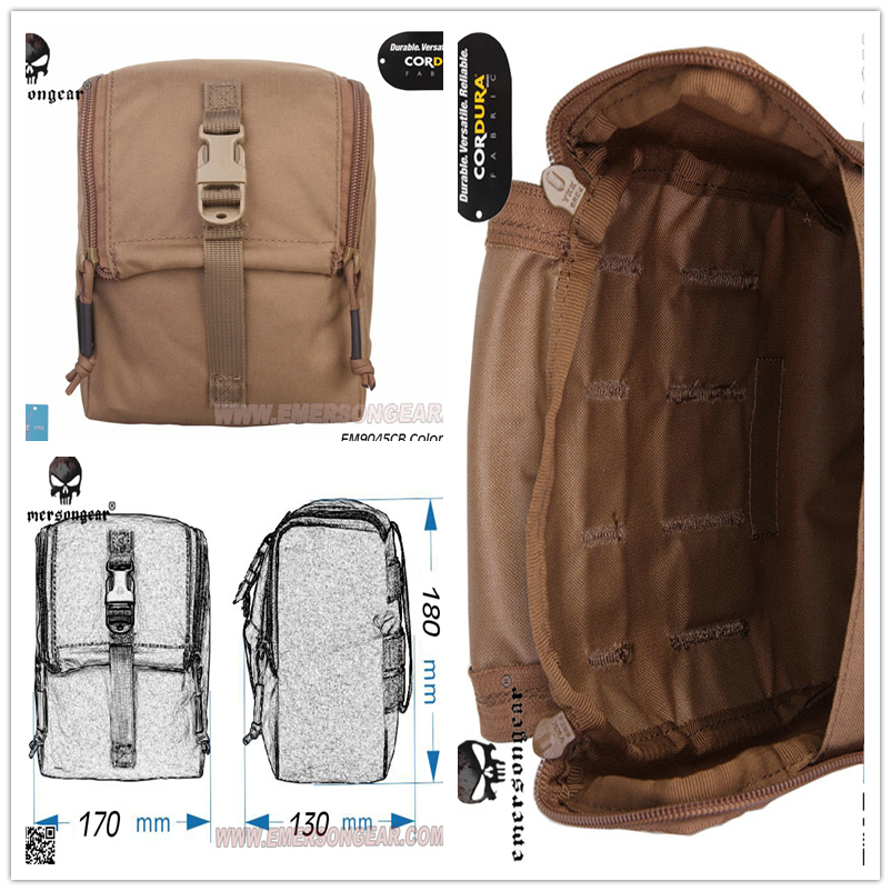 EmersonGear CP Style Pouch Multicam Black Tactical MOLLE Waist Pouch Military GP Utility Pouch Hunting Accessories