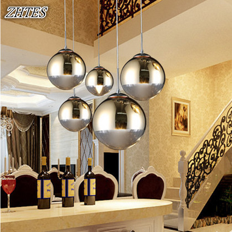 Plated Glass Ball Pendant Light Modern Restaurant Bar Cafe Staircase Glass Lighting Gold silver диски helo he844 chrome plated r20