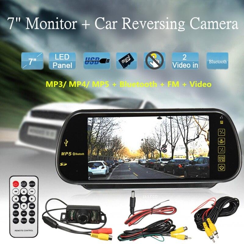 Car TFT Monitor Mirror 7 Inch Screen Display Handsfree MP5 LCD Rear View Reversing font b