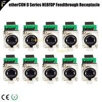 Conector de rede ethercon série d montagem em painel rj45 featthrough receptáculo para pro áudio vídeo e iluminação aplicações de rede|Efeito de Iluminação de palco| |  -