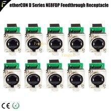 Conector de rede ethernet, conector de rede série d para montagem de painel rj45 alimentação receptáculo para aplicações de vídeo e iluminação de áudio pro