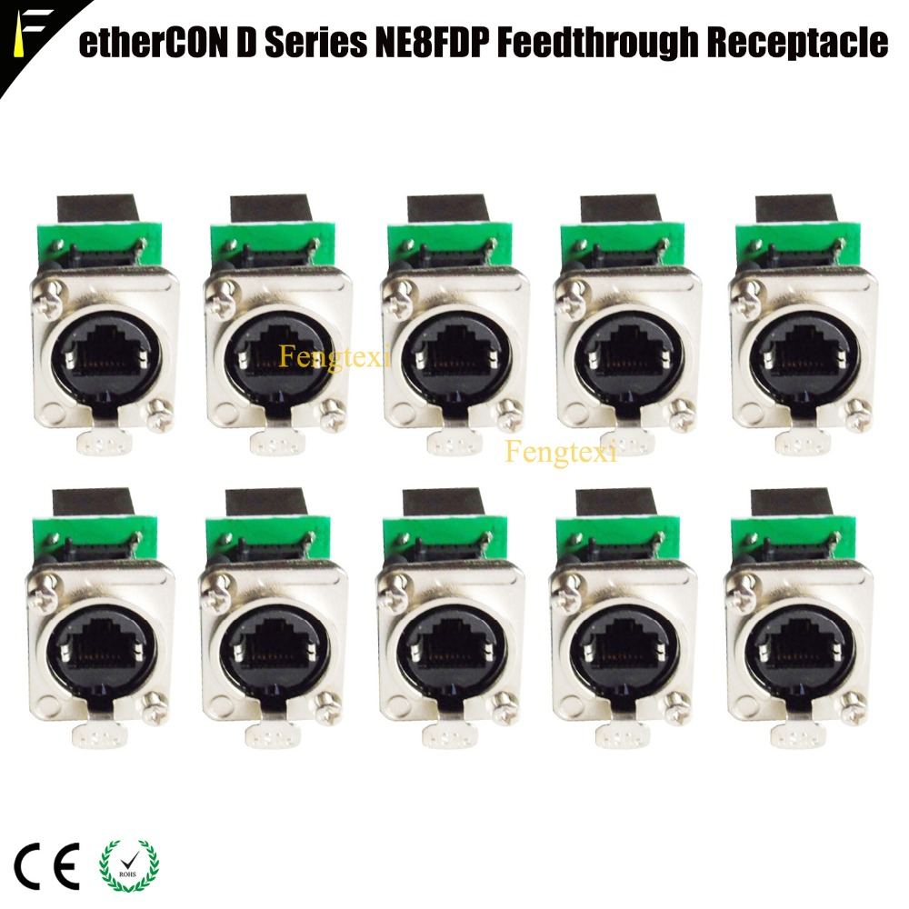 Network Connector etherCON D Series Panel Mount RJ45 Feedthrough Receptacle for Pro Audio Video& Lighting Network Applications