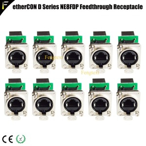 Network Connector etherCON D Series Panel Mount RJ45 Feedthrough Receptacle for Pro Audio Video& Lighting Network Applications(China)