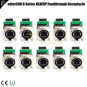 Network Connector etherCON D Series Panel Mount RJ45 Feedthrough Receptacle for Pro Audio Video& Lighting Network Applications - DISCOUNT ITEM  0% OFF All Category