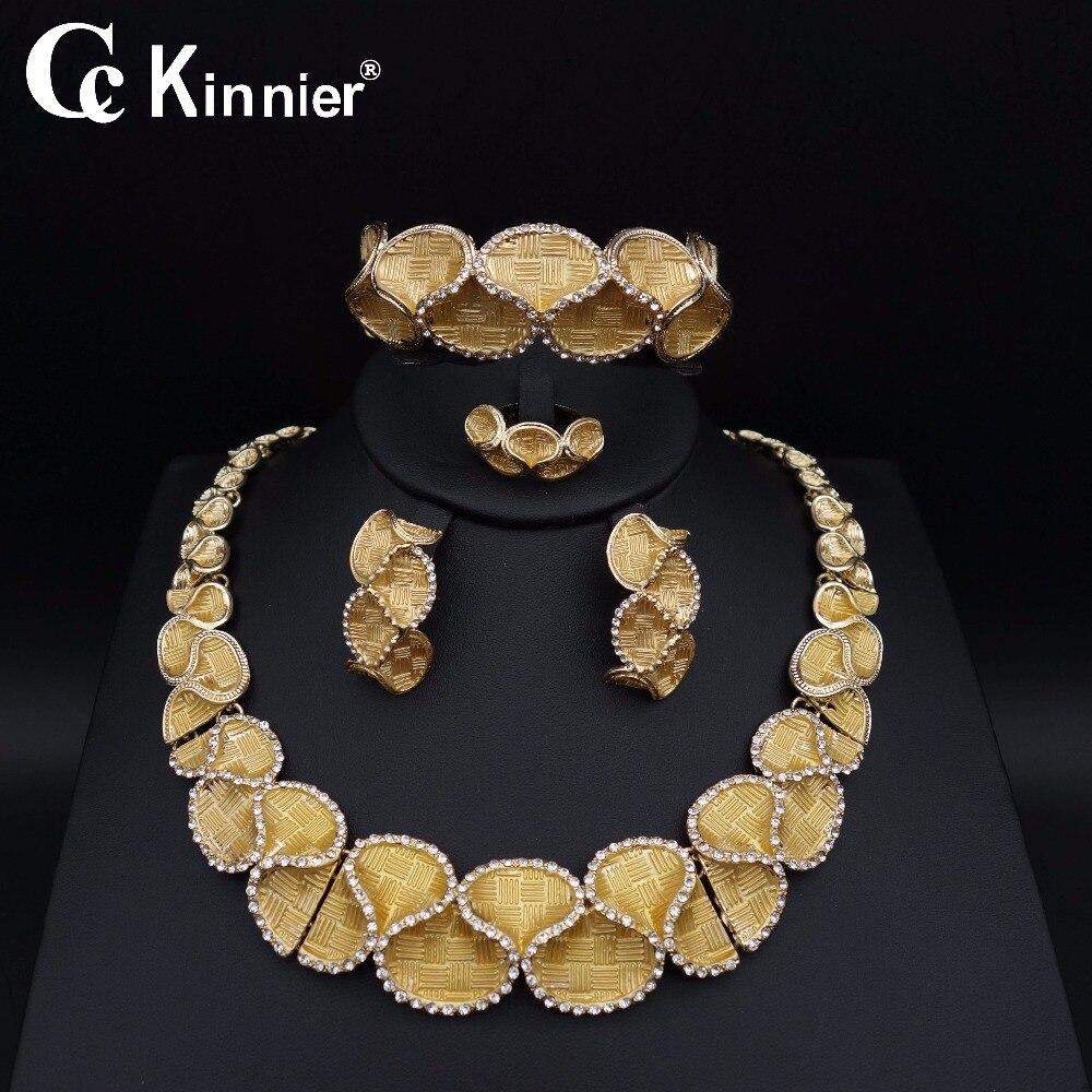 nigerian wedding woman accessories jewelry set fashion african beads jewelry set dubai gold color jewelry set Wholesale