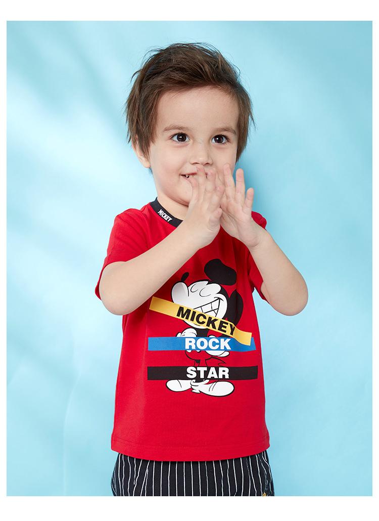 HTB1miH1KNTpK1RjSZFMq6zG VXag - Disney children's clothes boys T-shIrt dress knitted Short-sleeve tshirt 2019 Summer Mickey fashion pure cotton camiseta t shirt