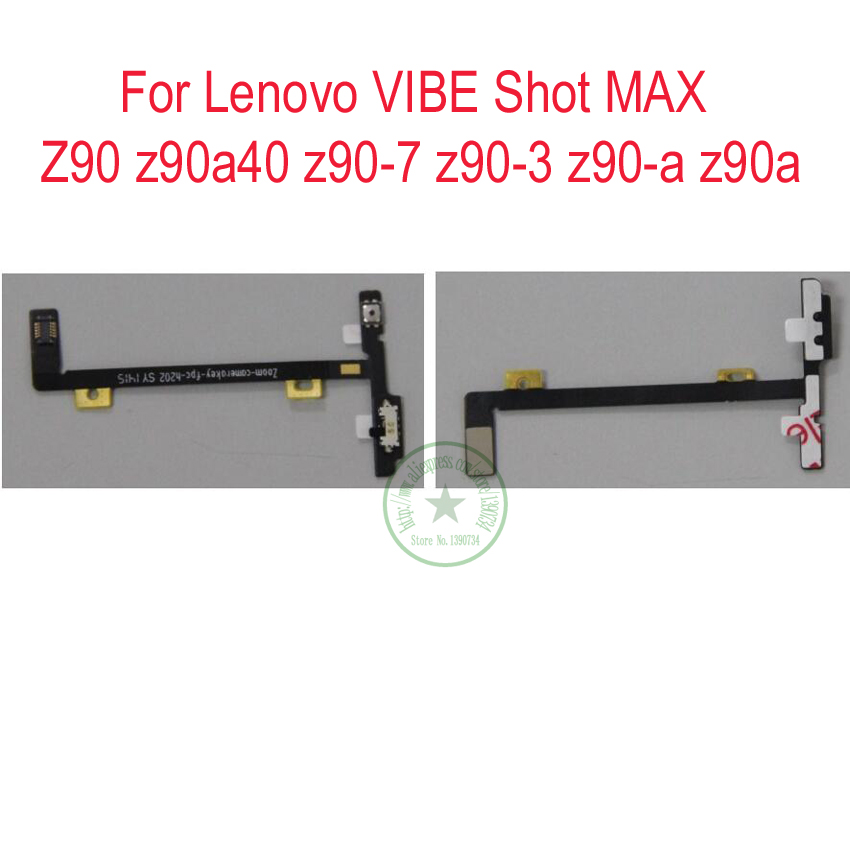 TOP Camera Button Key Flex Cable For LENOVO vibe shot z90 z90a40 z90-7 z90-3 z90-a z90a Phone Spare Parts ...