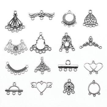 Antique Silver Color Earrings Connection Charms Jewelry Diy Earrings Connector For Earring Making 1