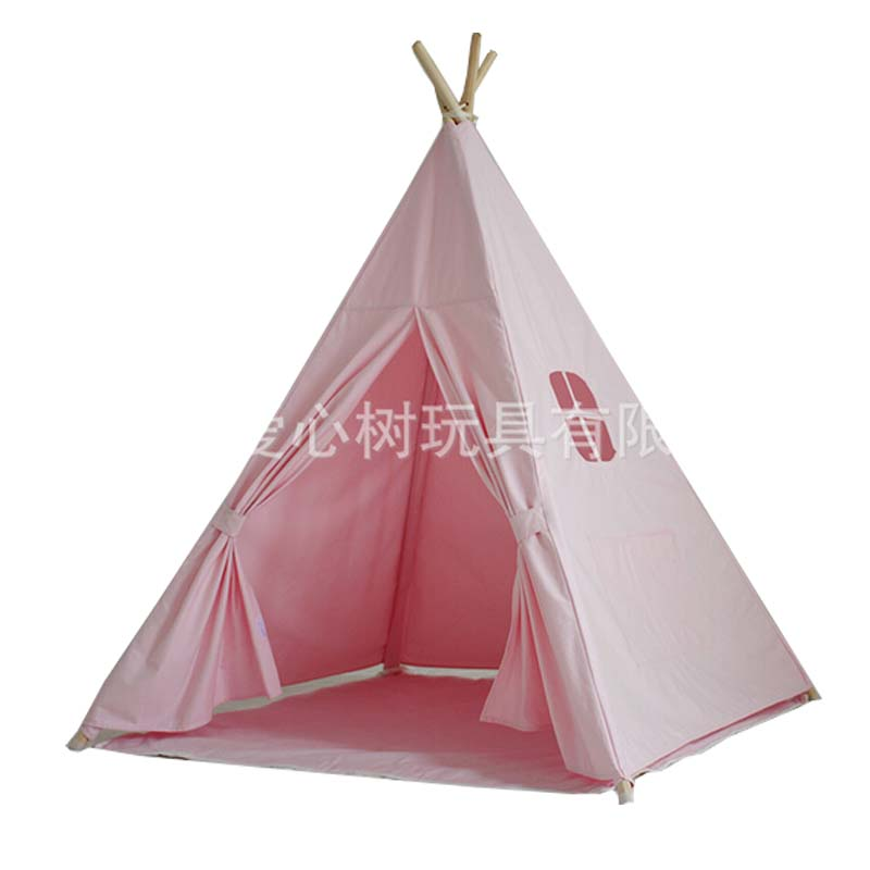 Lovely cartoon teepee kid play tent cotton canvas kids teepee white playhouse fabric children bed tent indoor-in Toy Tents from Toys u0026 Hobbies on ...  sc 1 st  AliExpress.com & Lovely cartoon teepee kid play tent cotton canvas kids teepee ...