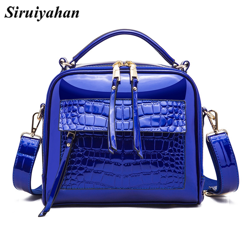 4e0452ee4caa High Quality Sequin Women Bag Patent Leather Handbag Shoulder Messenger Bags  for Women 2018 Brand Designer