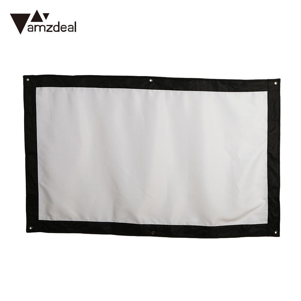 Amzdeal Durable Lobbies Projection Screen HD Bar Outdoor