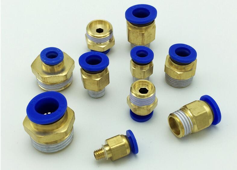 Pneumatic quick coupling, quick plug thread, straight through PC4, PC6, PC8, PC10, PC12 - M5 pneumatic quick coupling quick plug thread straight through pc4 pc6 pc8 pc10 pc12 m5