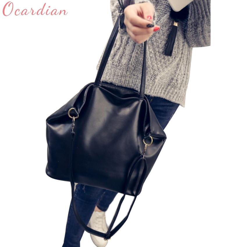 OCARDIAN Handbag Casual Clutch Bag Female Polyester Tote Shoulder Handbags Women Large Pu Leather Cross Body Messenger jan24