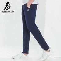Acampamento pioneiro Nova chegada calça casual sweatpants masculinos calças de roupas masculinas da marca sólida qualidade superior em linha reta cinza azul AWK703109