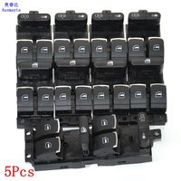 5 Pcs vw Original car Master Window Switch Control Panel Fit for Jetta 4 Golf 4 GTI MK4 Bora Passt B5 3BD9598573BD 959 857