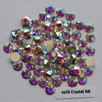 1440 pz/lotto, AAA Qualità Nuovo Facted (8 grande + 8 piccolo) ss16 (3.8-4.0mm) Crystal AB Nail Art Colla Sul Non Hotfix Strass