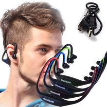 Sports Wireless Bluetooth Earphone Stereo Headset Headphone With Microphone Support Hands Free Call For iPhone Samsung
