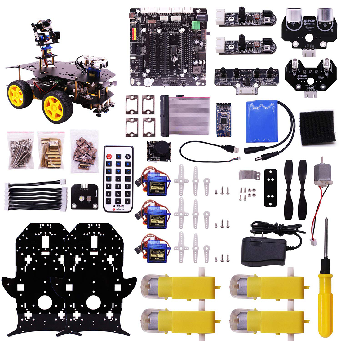 Ultimate Starter Kit for Raspberry Pi 3 B+ HD Camera Programmable Smart  Robot Car Kit DIY Stem Toy