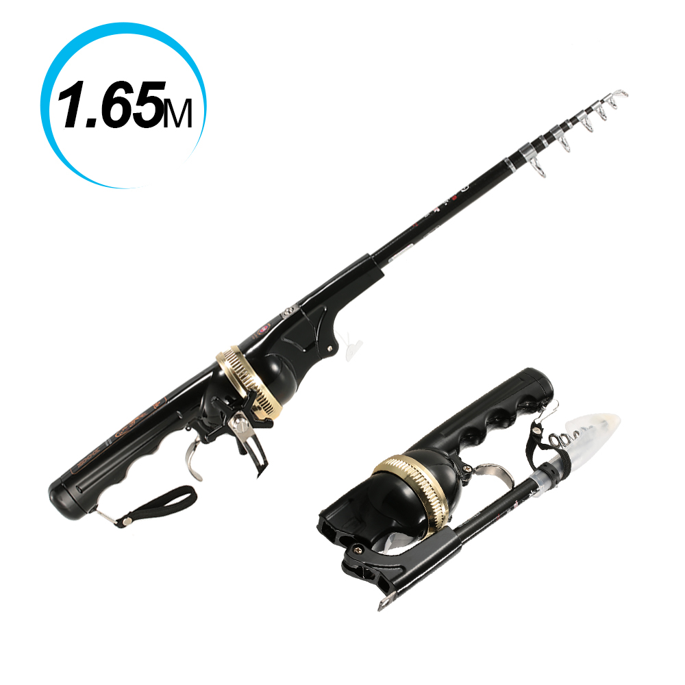 133 165cm automatic fishing rod reel combo kit sea for Folding fishing rod