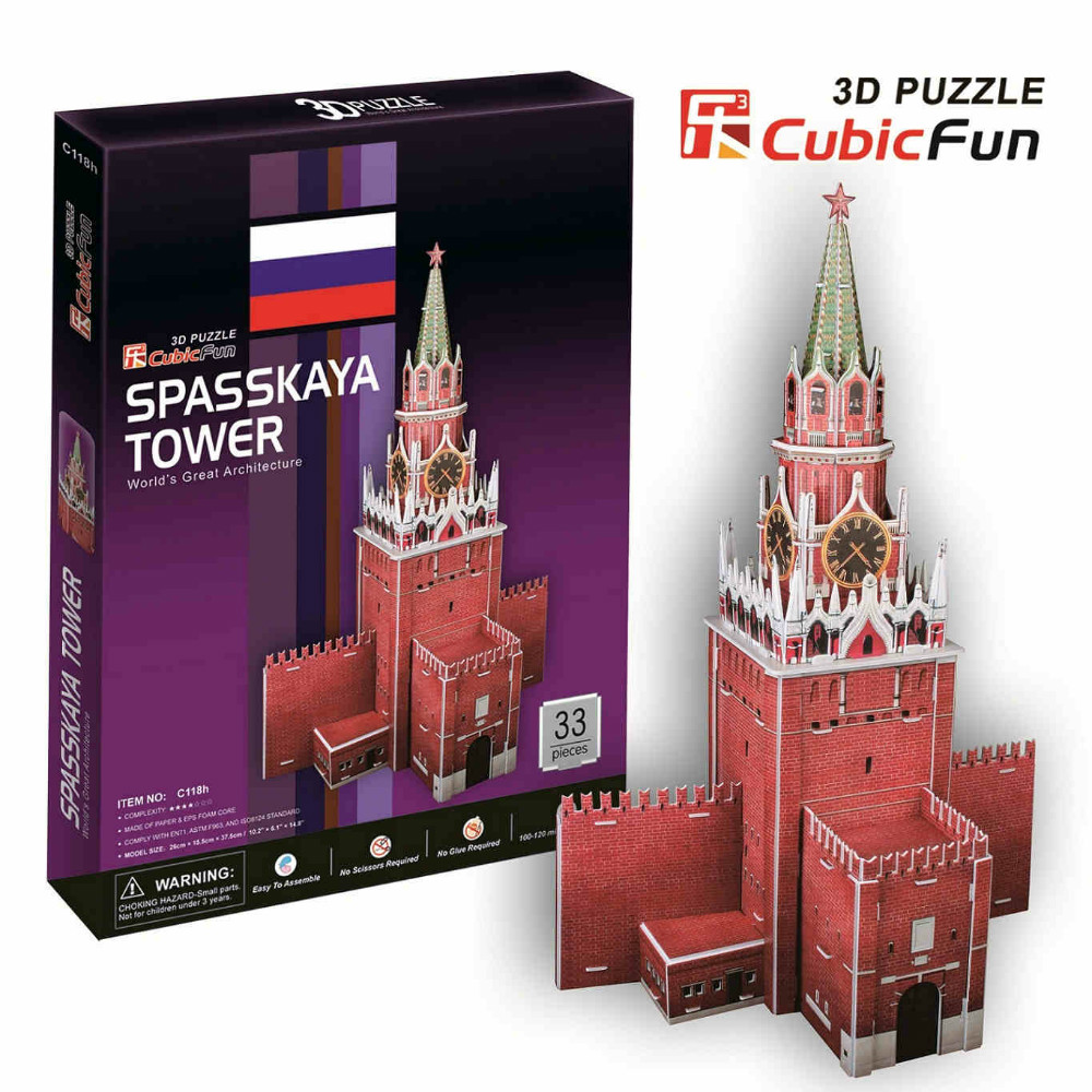 3D models toy Cubic Fun 3D paper model jigsaw game Spartak towers C118h