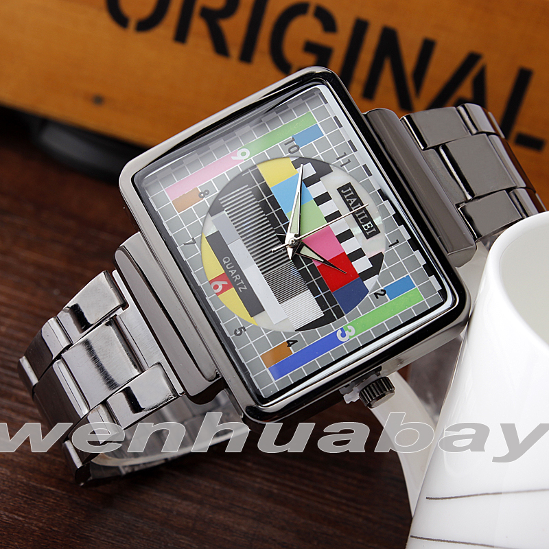 Fashion TV Square Plaadimängija Dial Steel Band Quartz Watch Analoog - Meeste käekellad - Foto 5