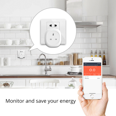 reino unido wifi inteligente soquete plug power
