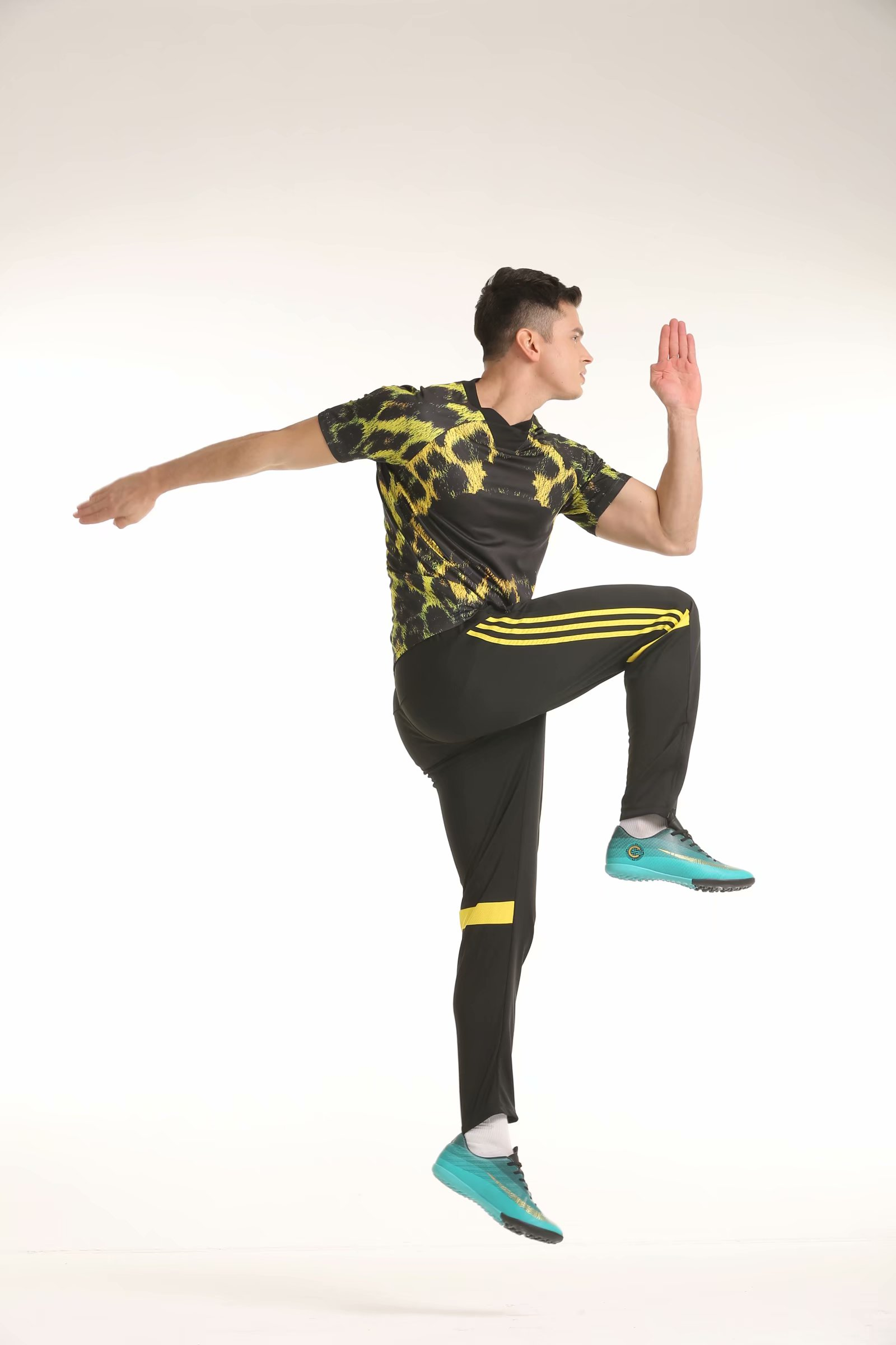 Футбольные тренировочные штаны мужские футбольные штаны из полиэстера с карманом на молнии для бега фитнес тренировки спортивные брюки для бега