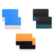 FOSHIO – ensemble de raclettes en vinyle, 6 pièces, sans rayures, Film de carbone, emballage de vitres, Kit doutils, accessoires Automobiles